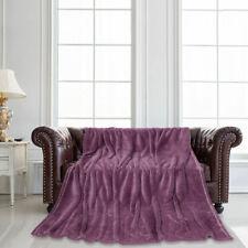 Flannel Plush Blankets Twin Full Queen Purple Queen Size(200 x 230 cm)