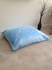 Beanbag Floor Cushion Filled Blue Faux Fur Large 3ft Size Luxurious New