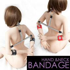 Stainless Steel Leather Handcuff Suit Spreader Bars Flirting Supplies Interes