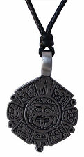 Pewter AZTEC Pendant on Adjustable Black Cord Necklace Nickel Free