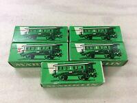 SET of 5 used Marklin 4040 Passenger Tin Cars for Modeltrain H0