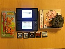 BLACK NINTENDO DS LITE DSL CONSOLE +6 GAMES NEW SUPER MARIO POKEMON TOY STORY 3