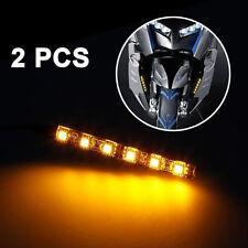 2 x Mini Strip led moto Disabilita segnale universale ambra luci striscia 6LED