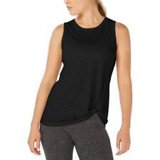 Ideology Womens Black Fitness Running Yoga Tank Top Shirt M BHFO 0614