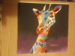 Steven Brown canvas prints giraffe