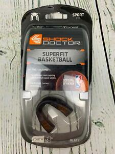 Shock Doctor Mouthguard SuperFit Easy Fit Strapless Basketball Black Youth