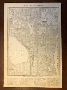 1917 Seattle, WA Map, Encyclopedic Atlas and Gazetteer