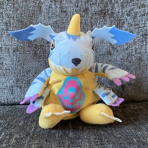 RARE Digimon Goldenbear Reversible Plush Beanie - Gabumon To Tsunomon