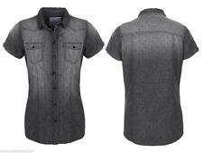 Markenlose Damenblusen, - tops & -shirts mit Button Down-Kragen aus Baumwolle
