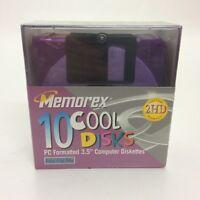"Memorex 10 Cool Disks 3.5"" Floppy Disk Brand New Sealed Box"