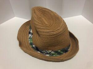 💛GYMBOREE Straw Fedora Farmer Hat Size 18-24 months Toddler Kids Baby💛