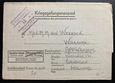 1940 Germany Stalag 12D POW Prisoner of War Letter Cover To Groningen Holland