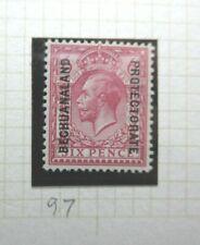 BRITISH BECHUANALAND POSTAGE STAMP SG97 KGV 6 PENCE PURPLE LIGHTLY HINGED