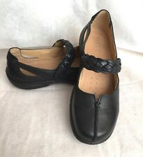 HOTTER NWOB  ** BLACK  LEATHER MARY JANE SHOES  ** SIZE 7