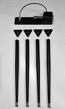 Black Wurlitzer Electric Piano Legs, Plates and Sustain pedal ( 200 200a 206 )