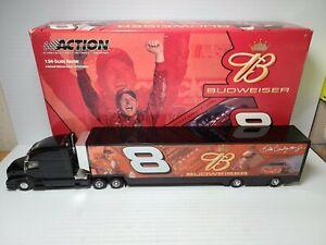 2004 Dale Earnhardt Jr #8 Budweiser Hauler 1:64 NASCAR Action Die-Cast MIB