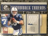 Peyton Manning Game Worn Jersey, Limited Edition (15/199) Donruss Football Card