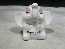 Collectable ~ Ceramic Elephant Bank ~ Houston Texas (#1)