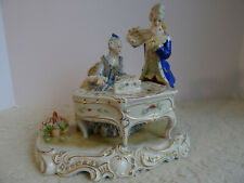 Spectacular Volkstedt Irish Dresden Figurine - Musicians with Piano and Flute