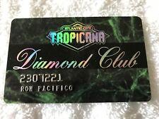 Vintage Tropicana Casino & Resort Raised Letters Slot Card Atlantic City