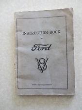 Original 1932 Ford flathead V8 owner's manual