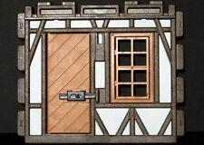 Playmobil Ritterburg - Fachwerkwand mit Fenster und Tür mit Riegel