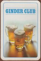 Playing Cards Single Card Old MARTINAS BREWERY Ginder Club Beer Advertising Art