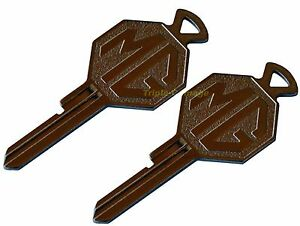 TWO (2) MG crested FP Key for your MGA or early MGB ,MG Midget etc.