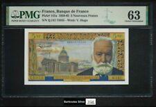 France 1959-65 UNC 5 Nouveaux Francs Banknote P#141a - PMG 63