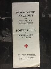 1979 US Red Cross Guide To Senders Of Gifts Cover To Poland