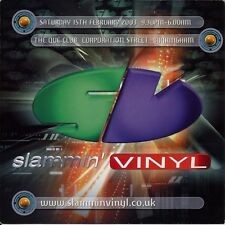 (RAVE FLYER 2003) SLAMMIN VINYL @ THE QUE CLUB. BIRMINGHAM. KENNY KEN. MARK EG