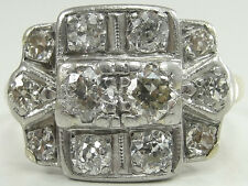 Antique 10K Yellow Gold Diamond Ring 1.6 CTW Old European Transitional Size 6.75