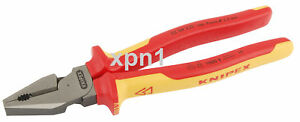 Knipex 02 08 225 VDE Insulated High Leverage Combination Pliers 225mm 32018