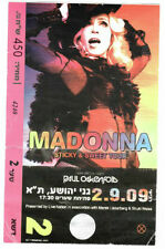 Madonna 'Sticky & Sweet Tour' in Israel Original Tickets for Collectors