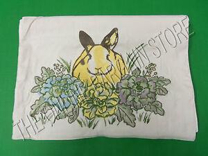Pottery Barn Honey Bunny Easter Holiday Kitchen Dining Table Runner Linen 18x108