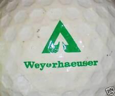 (1) Weyerhaeuser Vintage Hex Ball Logo Golf Ball Balls