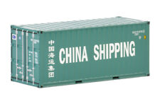 """CHINA SHIPPING"" 20FT CONTAINER TURQUOISE 1/50 DIECAST BY WSI MODELS 04-2036"
