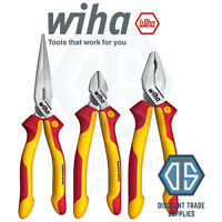 WIHA Heavy Duty VDE 1000v Side Cutter + Combination & Long Nose Plier Set 38637