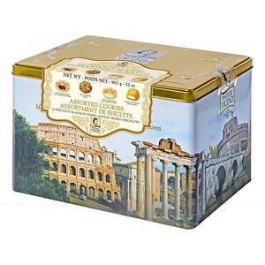 Vicenzi Italian Biscuit Assortment Cookies Biscuit Collection Gift Tin Pack 907g
