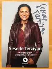 Sesede Terziyan AK ARD WaPo Berlin Autogrammkarte original handsigniert