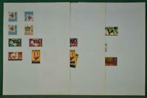 HONG KONG STAMPS ON 5 PAGES   (R46)