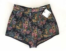 High Waist Hand-wash Only Floral Shorts for Women