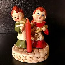 Vintage Christmas Figurine With Candle Holder Made in Japan by Star