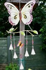 LARGE BUTTERFLY WINDCHIME * GARDEN ORNAMENT *  GENTLE & SOOTHING SOUND