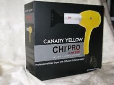 CHI 'Canary Yellow' Pro Hair Dryer w/ Diffuser & Concentrator.
