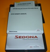 2018 KIA SEDONA OWNERS MANUAL SET 18 +case L LX EX SX LIMITED + MULTIMEDIA NEW