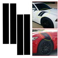 4 Pieces PET Rally Racing Car Side Hood Hash Fender Stripes Vinly Decal Stickers