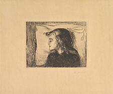 Edvard Munch Print Reproduction: The Sick Child - Fine Art Print