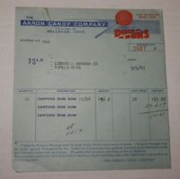 Vintage 1947 Akron Candy Company Dum Dums Advertising Sales Receipt