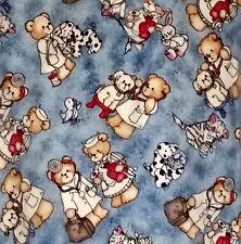 Scrubs White Cross Top Vet Nurse Teddy Bear Dogs Cats Short Sleeve Pullover